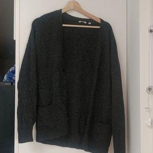 Cardigan dark gray sweater